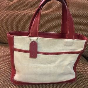 COACH Vintage Tweed Canvas BLEECKER Tote #6121